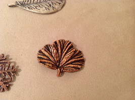 Mix Lot 9 Snowflakes 2 Leaves Gold Copper Colored Decoration Ornament or pendant image 5