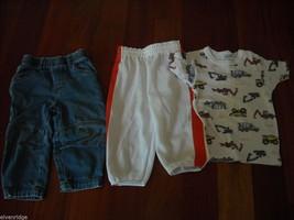 Mixed lot 16 Toddler Boys Clothes Shirts Jacket Pants Hats Shoes Toys 0-3m 3-4T image 6