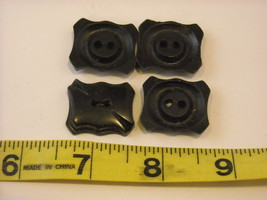 Mixed lot of black vintage buttons anchor octagonal and more image 3