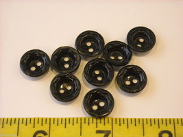 Mixed lot of black vintage buttons anchor octagonal and more image 8