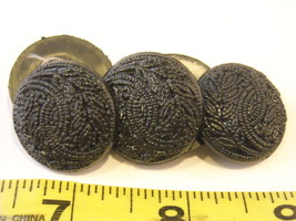 Mixed lot of black vintage buttons anchor octagonal and more image 7
