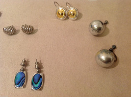 Mixed Lot of 6 pairs of earrings  on screw back vintage image 3