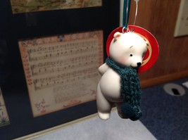 Miniature white ceramic bear w knit scarf color choice dept 56 new image 10