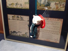 Miniature white ceramic bear w knit scarf color choice dept 56 new image 9