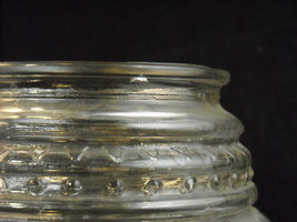 Mixed lot of 3 clear glass items Pyrex Olivaxine vase from Syracuse Light shade image 4