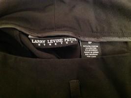 Larry Levine Petite Stretch Size 8P Black Capri Pants Excellent Condition image 5