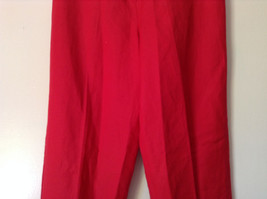 Larry Levine Sport Bright Red Pants Lining is 100 Percent Polyester image 3