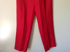 Larry Levine Sport Bright Red Pants Lining is 100 Percent Polyester image 4