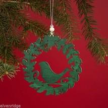 Laser Wood Ornament Flourish Three Layer Wreath with Bird image 2