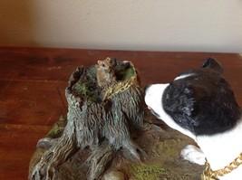 My Dog Figurine Hunting Dog Approaching Chipmunk on Tree Stump Jack Russell ? image 7