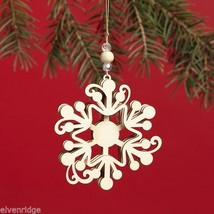 Laser Wood Ornament Flourish  Snowflake image 2