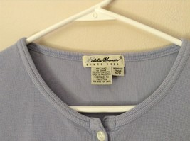 Lavender Short Sleeve Button Up Eddie Bauer Shirt 100 Percent Cotton Size Small image 3