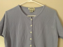 Lavender Short Sleeve Button Up Eddie Bauer Shirt 100 Percent Cotton Size Small image 2