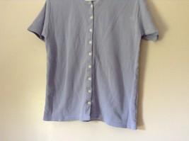 Lavender Short Sleeve Button Up Eddie Bauer Shirt 100 Percent Cotton Size Small image 4