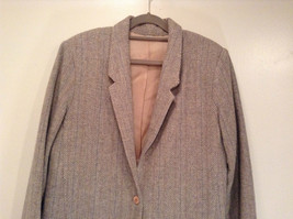 Laura Size 12 Gray Lined Blazer 1 Button Closure Pockets Excellent Condition image 4
