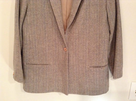 Laura Size 12 Gray Lined Blazer 1 Button Closure Pockets Excellent Condition image 3