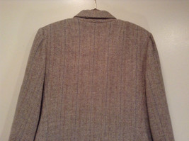 Laura Size 12 Gray Lined Blazer 1 Button Closure Pockets Excellent Condition image 7