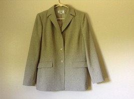 Le Suit Beige Formal Jacket and Pants Suit Shoulder Pads Size 10 image 6