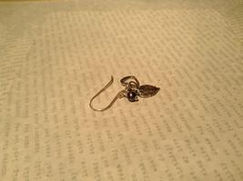 Leaf Heart Black Pearl Sterling Silver 925 Handmade Earrings Inspired by Nature image 4