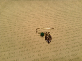 Leaf Semi Precious Turquoise Stone Earrings Sterling Silver Handmade image 3