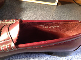 Leather Hand Sewn Penny Loafers Made in USA Size 7.5 See Pictures image 5