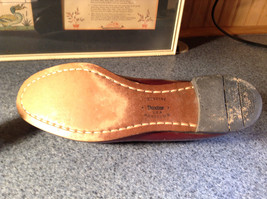 Leather Hand Sewn Penny Loafers Made in USA Size 7.5 See Pictures image 6