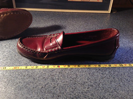 Leather Hand Sewn Penny Loafers Made in USA Size 7.5 See Pictures image 7