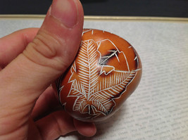 Leaves Hand Carved Art Ornament Peruvian Gourd Eco Sustainable Fair Trade image 6