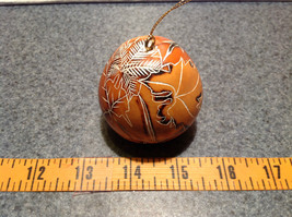Leaves Hand Carved Art Ornament Peruvian Gourd Eco Sustainable Fair Trade image 8