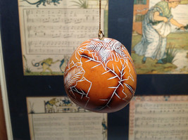 Leaves Hand Carved Art Ornament Peruvian Gourd Eco Sustainable Fair Trade image 7