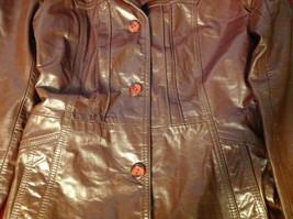 Leathercraft Process Brand Womens Burgundy Leather Jacket size Small Medium S M image 3