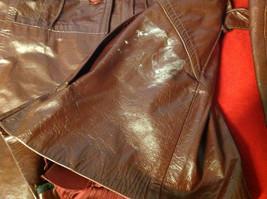 Leathercraft Process Brand Womens Burgundy Leather Jacket size Small Medium S M image 4