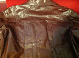 Leathercraft Process Brand Womens Burgundy Leather Jacket size Small Medium S M image 7