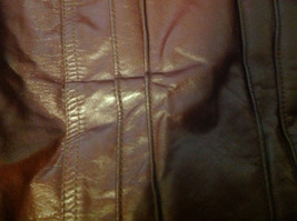 Leathercraft Process Brand Womens Burgundy Leather Jacket size Small Medium S M image 8