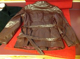 Leathercraft Process Brand Womens Burgundy Leather Jacket size Small Medium S M image 6