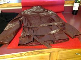 Leathercraft Process Brand Womens Burgundy Leather Jacket size Small Medium S M image 9