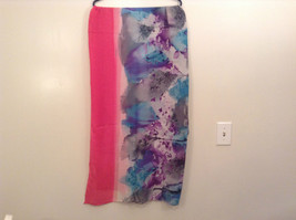 NEW Blue and Pink Shibori Tie Dye Scarf by MAD 100 Percent Polyester image 4