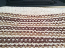 NEW Brown White and Tan Bath Rug by Whole Home 20 Inches by 32 Inches image 3