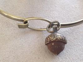 NEW bangle bracelet w Acorn Charm choice of color USA made image 8