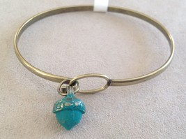 NEW bangle bracelet w Acorn Charm choice of color USA made image 10