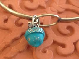NEW bangle bracelet w Acorn Charm choice of color USA made image 9
