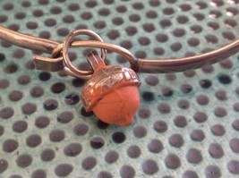 NEW bangle bracelet w Acorn Charm choice of color USA made image 12