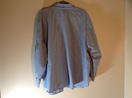 Napa Valley Light Blue Button Up Shirt Decorated Front Collared Size XXL image 6