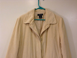 Light Beige Cream Fully Lined Willi Smith Light Coat sz 10 Buttons corduroy image 3