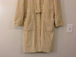 Light Beige Cream Fully Lined Willi Smith Light Coat sz 10 Buttons corduroy image 4