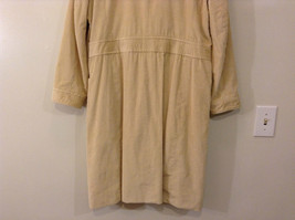 Light Beige Cream Fully Lined Willi Smith Light Coat sz 10 Buttons corduroy image 6