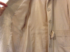Light Beige Cream Fully Lined Willi Smith Light Coat sz 10 Buttons corduroy image 8