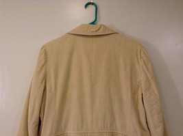 Light Beige Cream Fully Lined Willi Smith Light Coat sz 10 Buttons corduroy image 5