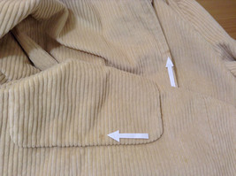 Light Beige Cream Fully Lined Willi Smith Light Coat sz 10 Buttons corduroy image 10