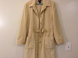 Light Beige Cream Fully Lined Willi Smith Light Coat sz 10 Buttons corduroy image 7
